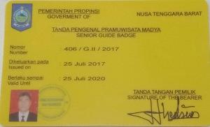 Senior Guide Badge Lombok