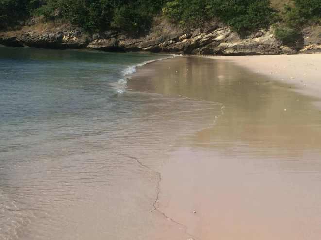 Pantai Tangsi or Pink Beach in Lombok
